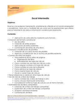 EXCEL-INTERMEDIO - Universidad Metropolitana