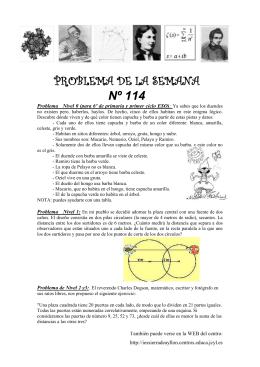 Problema Nivel 0 (para 6º de primaria y primer ciclo ESO): Ya sabes