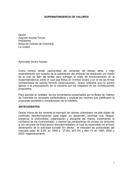 Doctor Augusto Acosta Torres Presidente