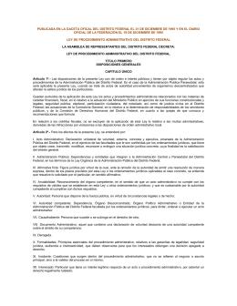 ley de procedimiento administrativo del distrito federal