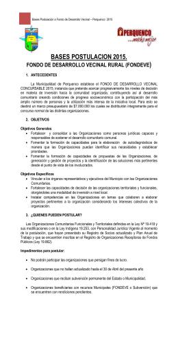 Bases Postulación a Presupuestos Participativos – Perquenco 2010