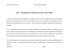 caso : universidad francisco de paula santander
