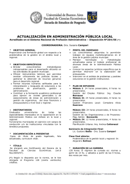 ESPECIALIZACION EN GESTION DE LAS PEQUENAS Y