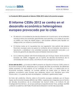 informe CESifo 2012