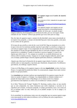Supermasivo agujero negro en el centro de la