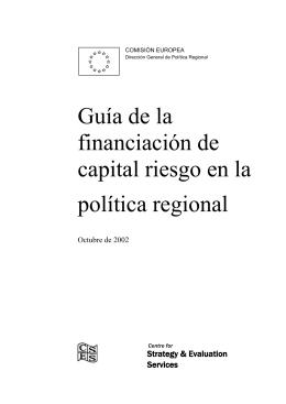 Guía de la financiación de capital riesgo en la política regional