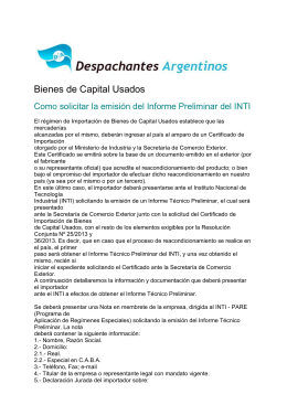Bienes de Capital Usados - Despachantes Argentinos
