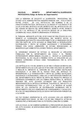 1996-8684 Nul. Decreto Dptal. 837 de 1993