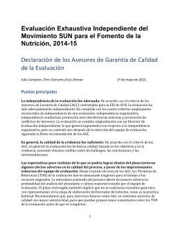 Puntos principales - Scaling Up Nutrition