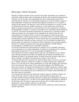 "Dinero negro y ""muerte"" de la peseta"