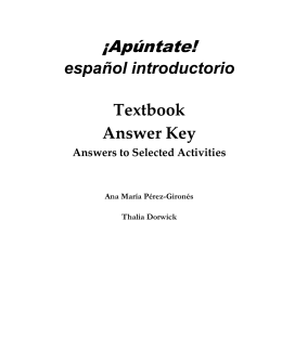 selected answers for capítulo preliminar