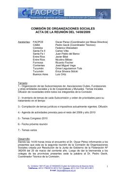 COMISIÓN DE ORGANIZACIONES SOCIALES