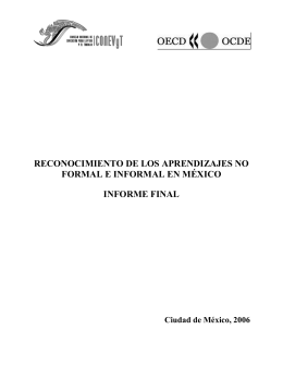 Recognition of non-formal and informal learning in Mexico