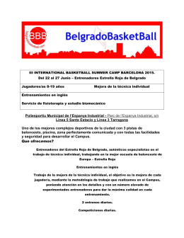 III INTERNATIONAL BASKETBALL SUMMER CAMP BARCELONA