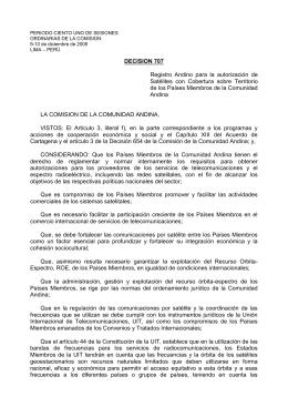 decision 707 - Comunidad Andina