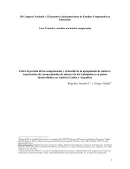 V Congreso Latinoamericano de Sociología del Trabajo