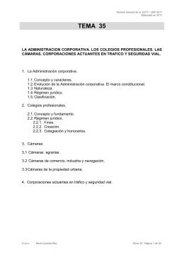 Tema 35. La Administración corporativa. Los colegios profesionales