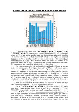 COMENTARIO DEL CLIMOGRAMA DE SAN SEBASTIÁN