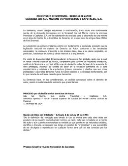 Sociedad Isla Sol Marine contra la empresa Proyectos y Capitales