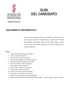 Información candidato prueba Nivel Básico