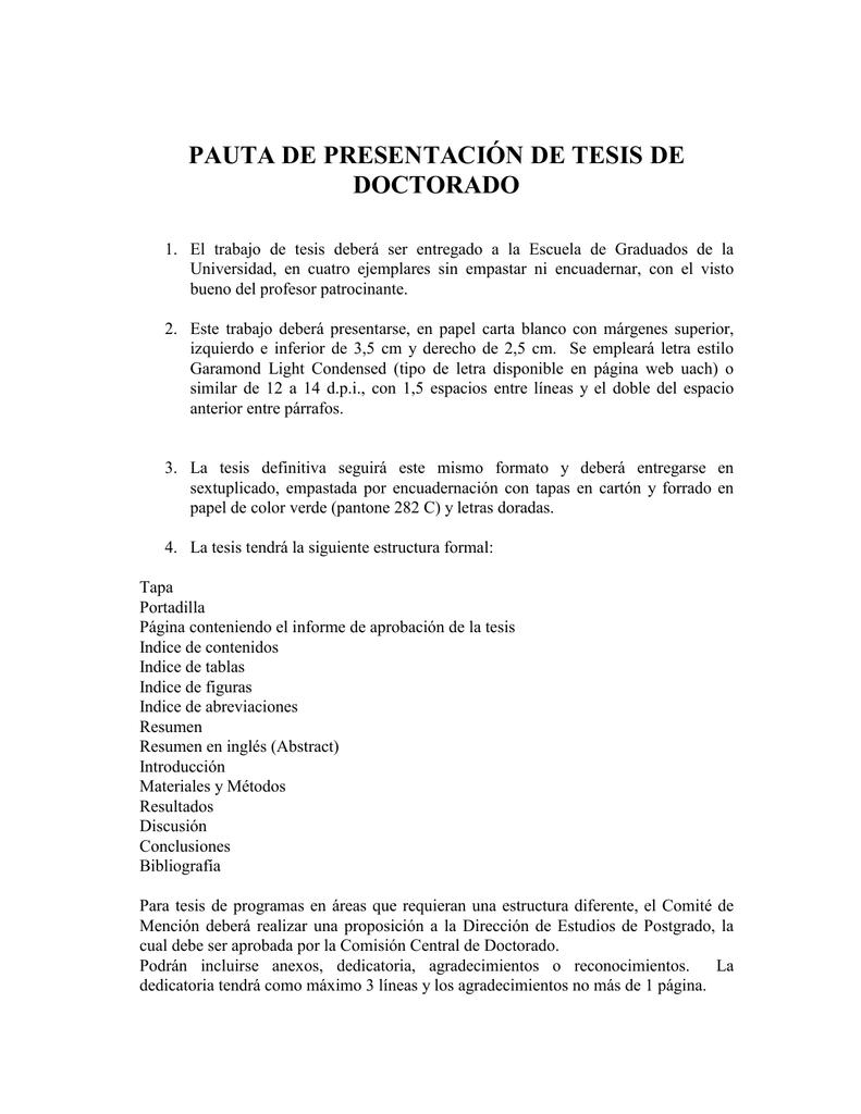 art. 15º proyecto de tesis - Postgrados Ciencias