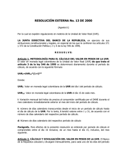 RESOLUCIÓN EXTERNA No. 13 DE 2000
