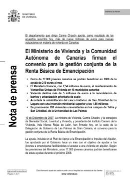 101207 Acuerdos Suscritos en CANARIAS