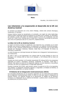 Las relaciones y la cooperación al desarrollo de la UE... América Central M