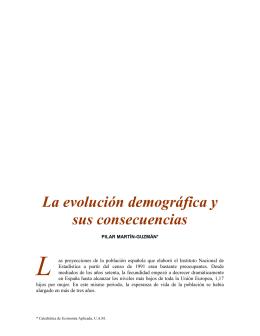 L  La evolución demográfica y sus consecuencias