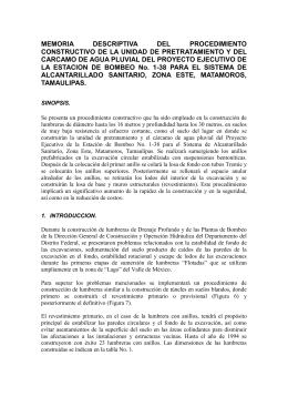 MEMORIA DESCRIPTIVA DEL PROCEDIMIENTO CONSTRUCTIVO