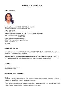 1 Curriculum Vitae 1 Datos Personales Nombres Dni