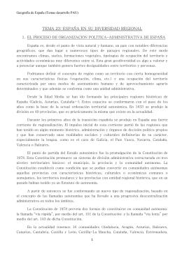 TEMA 15: ESPAÑA EN SU DIVERSIDAD REGIONAL
