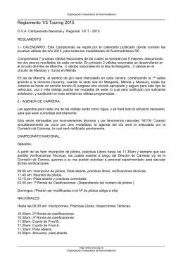 Reglamento 1/5 On-Road 2015 - Organizacion Venezolana de