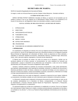 Manual General de Organización de la Secretaría de Marina