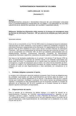 Carta Circular 112 - Superintendencia Financiera de Colombia