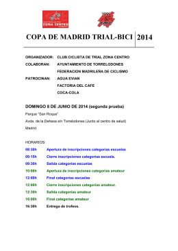 COPA DE MADRID TRIAL Junio 20014