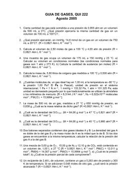 GUIA DE GASES, QUI 222