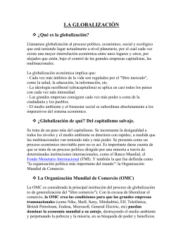 LA GLOBALIZACION - Languages Resources