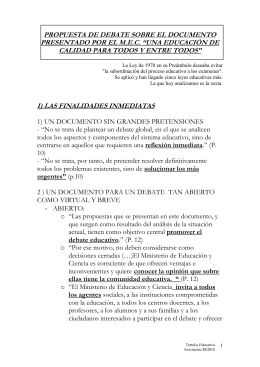UN DOCUMENTO SIN GRANDES PRETENSIONES