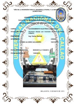 UNIVERSIDAD NACIONAL DEL CALLAO Circuitos Eléctricos II