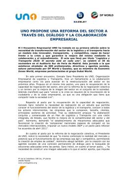 Nota de prensa I Encuentro Empresarial UNO