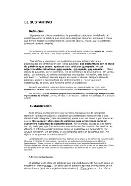 EL SUSTANTIVO - ALERTALETRAS