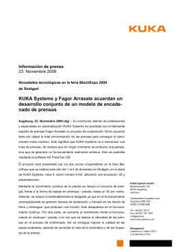 KUKA_Brief_de - KUKA Systems