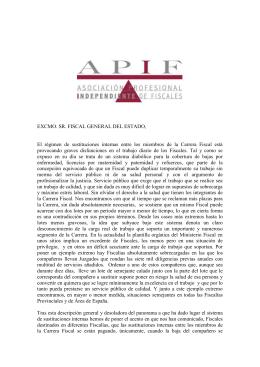 Carta al FGE sobre sustituciones carrera[...]
