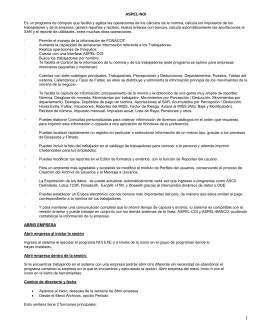 CARACTERÍSTICAS DE NOI