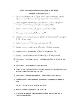 UNED - Curso de Experto Universitario en Seguros – 2011/2012