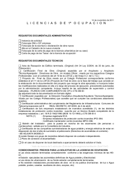 REQUISITOS DOCUMENTALES ADMINISTRATIVOS