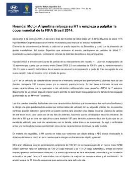 Hyundai Motor Argentina in diario La Nación