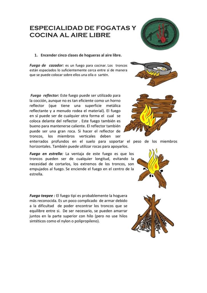 ESPECIALIDAD DE FOGATAS Y COCINA AL AIRE LIBRE Encender