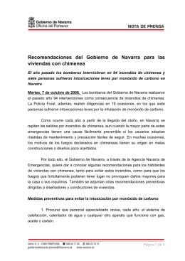 Recomendaciones de la Agencia Navarra de Emergencias para las